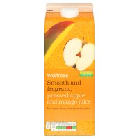 Waitrose pressed apple and mango juice