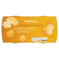 Waitrose 2 ginger sponge puddings