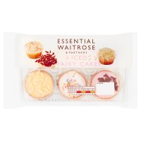 essential Waitrose iced fairy cakes