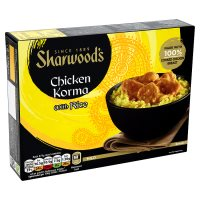 Sharwood's chicken korma with rice