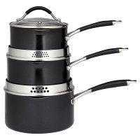 Waitrose Cooking 3 Piece Aluminium Saucepan Set