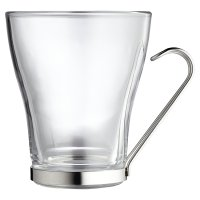 Waitrose Dining Glass Latte Mug
