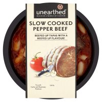 Unearthed slow cooked pepper beef