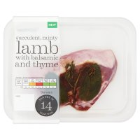 Waitrose New Zealand lamb leg steak with balsamic glaze, mint & thyme