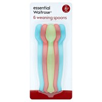essential Waitrose weaning spoons, pack of 6