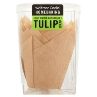 Waitrose Cooks' Homebaking tulip wrap muffin cases