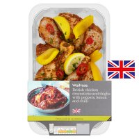 Waitrose chicken drumsticks & thighs peppers & chilli