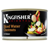 Kingfisher Oriental canned sliced water chestnuts in water