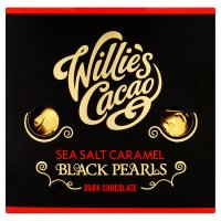 Willie's Cacao sea salt caramel black pearls