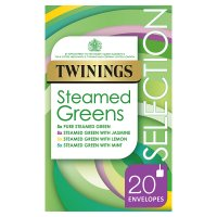Twinings Steamed Green Teas Selection 20 Tea Bags