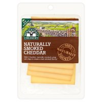 Wensleydale Creamery naturally smoked Cheddar slices