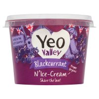 Yeo Valley blackcurrant n'ice-cream