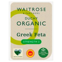 Waitrose Organic creamy & tangy Greek mature Feta cheese, strength 3
