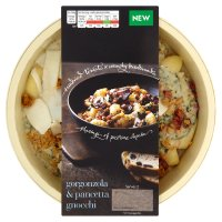 menu from Waitrose Creamy gorgonzola, spinach & pancetta gnocchi