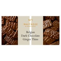 Waitrose 1 Belgian dark chocolate & ginger thins