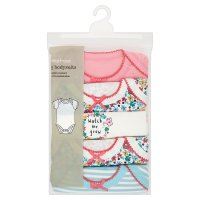 Waitrose 5 PK GIRLS BODYSUIT-ALLOTMENT 6-