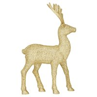 Waitrose Medium Glitter Gold Stag