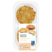 essential Waitrose 2 salmon & dill fishcakes