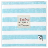 Waitrose Outdoors alfresco stripe napkins 33cm