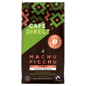 caf direct organic fairtrade machu picchu coffee beans. Black Bedroom Furniture Sets. Home Design Ideas