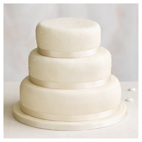 Fiona Cairns Undecorated 3 tier Wedding Cake Sponge Waitrose