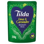 Tilda lime & coriander steamed basmati rice - 250g