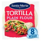 Discovery plain flour tortillas 8 per pack - 320g Brand Price Match - Checked Tesco.com 09/12/2013