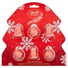 Lindt Lindor 6 chocolate truffle tree decorations - 120g