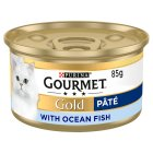 GOURMET Gold Adult Cat Pate Ocean Fish Wet Food Can - 85g
