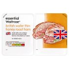 essential Waitrose British wafer thin honey roast ham - 2x90g