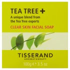 Tisserand Aromatherapy Tea Tree + Clear Skin Facial Soap 100g