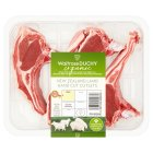 Waitrose Organic 4 hand cut New Zealand lamb rack cutlets -
