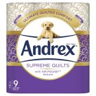 Andrex Gorgeous Comfort Quilted Toilet Rolls - 9s Brand Price Match - Checked Tesco.com 16/04/2014
