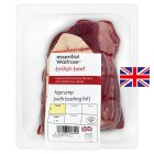 essential Waitrose British beef top rump roast -