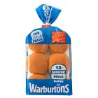Warburtons sliced sandwich rolls - 12s