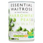 essential Waitrose canned  marrowfat peas - drained 180g