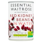 essential Waitrose canned red kidney beans in water - drained 180g