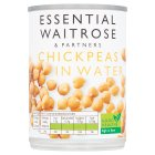 essential Waitrose canned chick peas in water - drained 240g