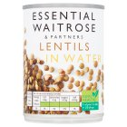 essential Waitrose canned lentils in water - drained 265g