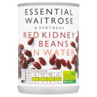 essential Waitrose canned red kidney beans in water - drained 240g