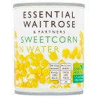 essential Waitrose canned sweetcorn crisp & naturally sweet - drained 160g