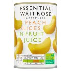 Essential Waitrose Peach Slices (in fruit juice) - 410g