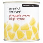 Essential Waitrose Pineapple Pieces (in light syrup) - drained 250g