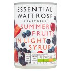 Essential Waitrose Summer Fruits (in syrup) - 290g