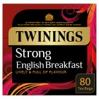 Twinings 1706 strong breakfast tea 80 tea bags - 250g