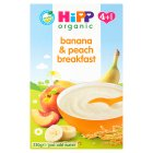 Hipp organic banana and peach breakfast - stage 1 - 230g Brand Price Match - Checked Tesco.com 05/03/2014