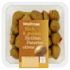 Waitrose Sicilian paterno olives in a herb dressing - 200g