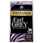 Twinings earl grey 50 tea bags - 125g Brand Price Match - Checked Tesco.com 09/12/2013