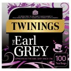 Twinings Earl Grey 100 tea bags - 250g Brand Price Match - Checked Tesco.com 18/08/2014