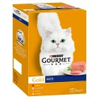 GOURMET® Gold Adult Cat Pate Mixed Variety Wet Food Can - 12x85g